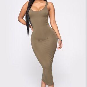 Olive Green Dress ⚡️
